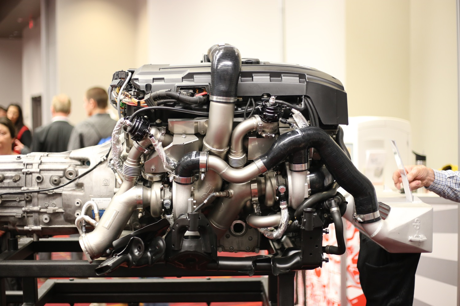 To Install The Large Twin Gt3071s On Our Project Car We Removed The Motor From The Chassis And Fitted The Turbo Kit