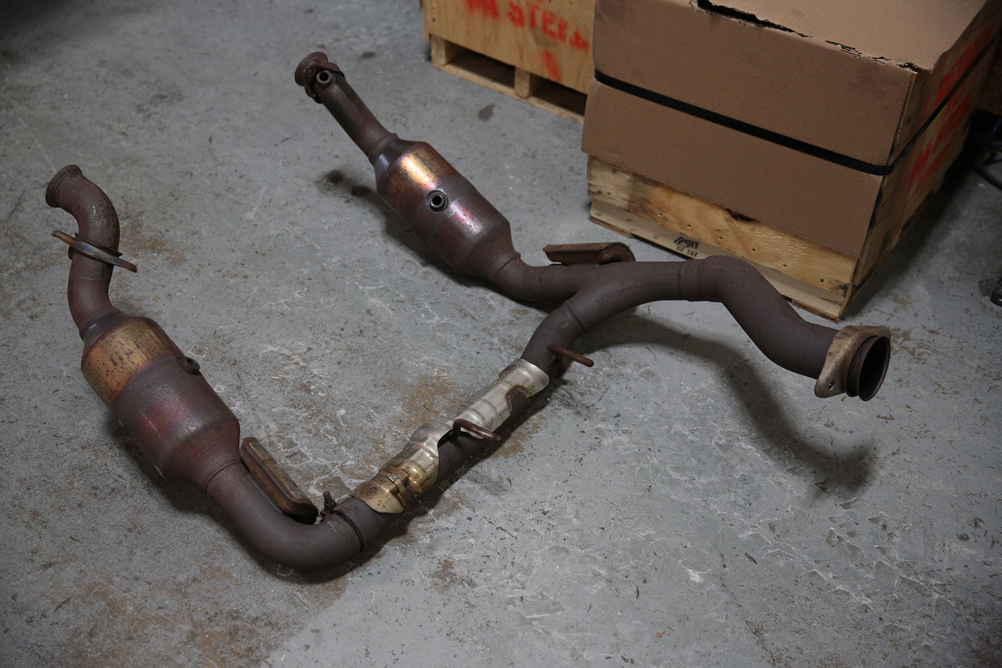 Ford F150 Ecoboost Downpipe Test Fit Cp E