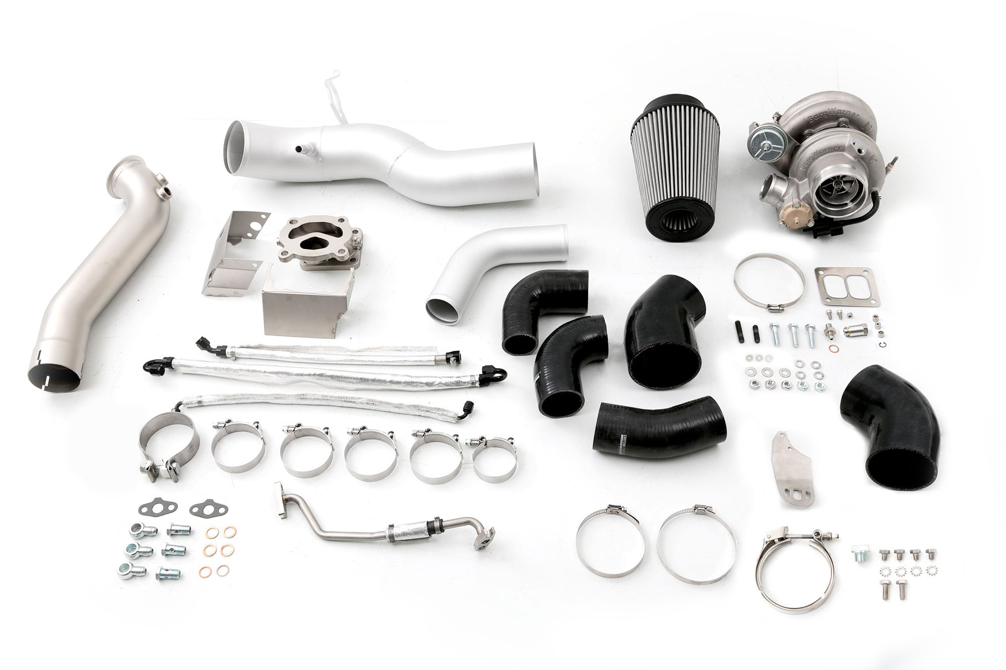 cp-e™ Atmosphere™ Ford Mustang EcoBoost Borg Warner EFR Twin Scroll Turbo  Kit