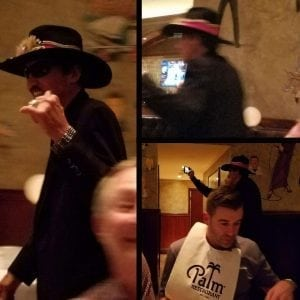 Richard Petty coming in from a private party at the Palm