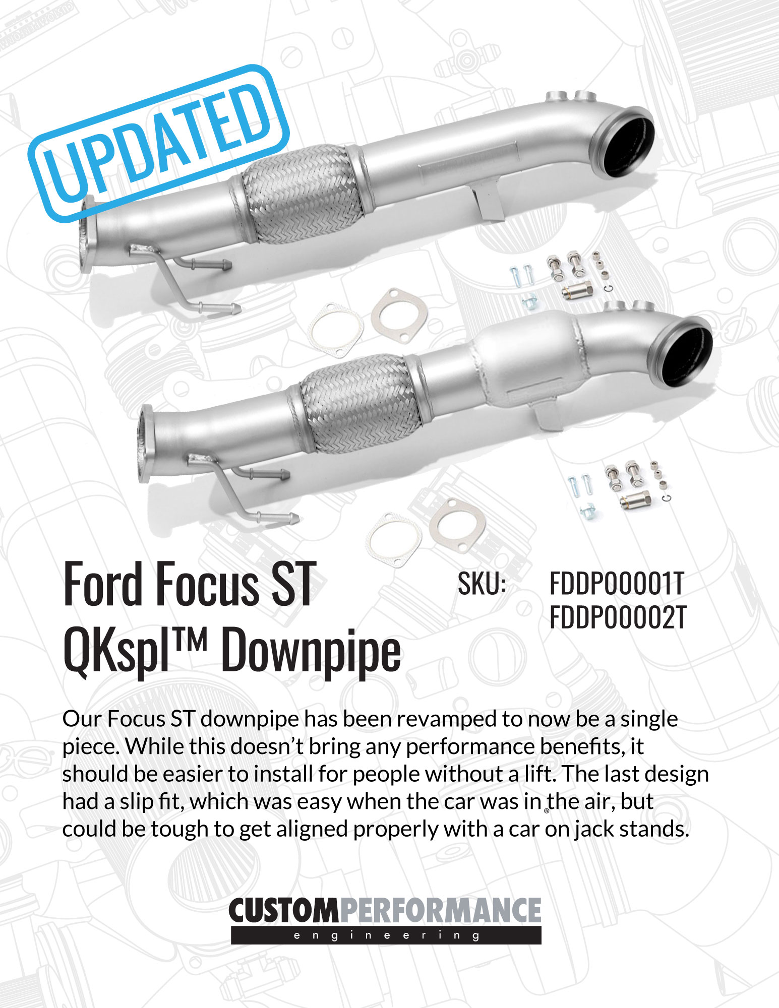 Focus ST Downpipe Updated - cp-e™